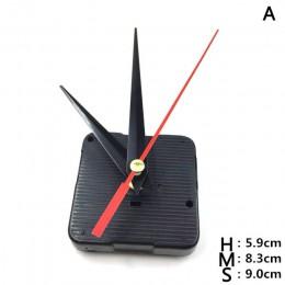 Zegary części mechanizm zegara kwarcowego naprawa części czarny + ręce wymiana zestaw części zestaw DIY