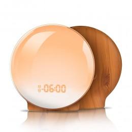 TITIROBA cyfrowy budzik z funkcją drzemki nowy budzik lekki zegar Sunrise Sunset Light funkcja FM budzik do codziennego życia