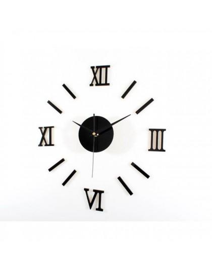 Rzym z cyframi analogowymi zegar ścienny diy 3d lustro cichy zegar akrylowy krótki cichy zegar ścienny diy nowoczesny design hur
