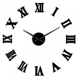 Nowoczesne DIY duży zegar ścienny 3D naklejane lustra na powierzchnie ozdoby do dekoracji domu gigantyczny zegar ścienny zegarek
