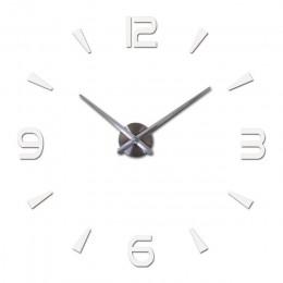 Modne majtki zegar ścienny na projekt salonu lustro akrylowe zegary europa Diy naklejki 3d duże dekoracyjne zegarki kwarcowe