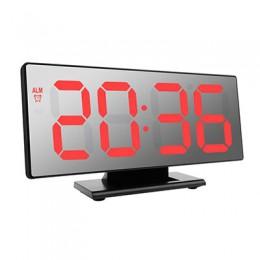 Duży elektroniczny budzik stojący z podświetlanym wyświetlaczem LED cyfrowy nowoczesny funkcjonalny modny