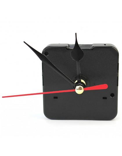DIY zegar ścienny kwarcowy mechanizm ruchu z czarny godzinę czerwona druga ręce strzały zegarek ruchu części do naprawy zestaw n