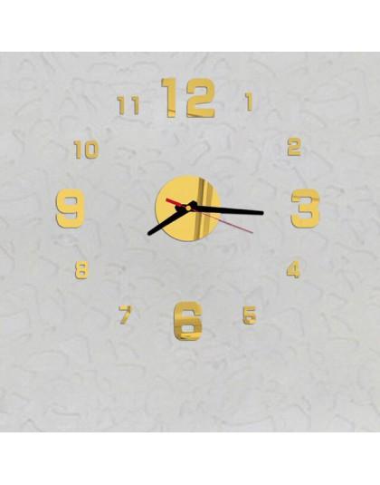 3d zegar ścienny Diy nowych mężczyzna zegarek lustro akrylowe naklejki zegar Home Decoration salon kwarcowy zegar łatwy w instal