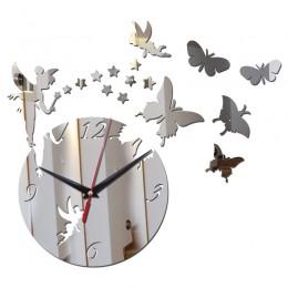 Lustro akrylowe sprzedaż zegar ścienny zegary zegarek kwarcowy Horloge Reloj De Pared nowoczesny Design salon martwa natura Duva