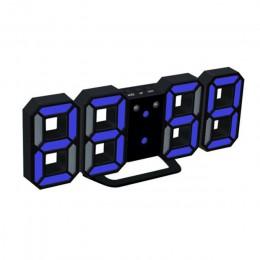 3D cyfrowy budzik LED zegary ścienne wiszący zegarek funkcją drzemki zegar kalendarz termometr wyświetlacz biurowy elektroniczny