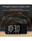 FanJu cyfrowy budzik led zegar zegarek elektroniczny stół zegary stołowe USB obudzić czasu radia FM żarówka jak funkcją drzemki