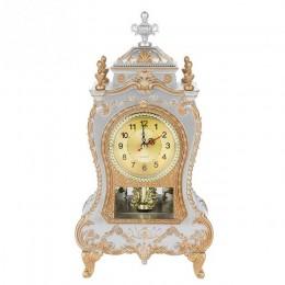 Budzik biurkowy staromodny zegar klasyczny Royalty salon szafka TV biurko meble imperialne kreatywny siedzieć zegar wahadło