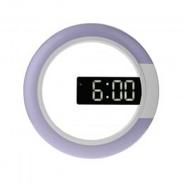 3D LED cyfrowy zegar stołowy Alarm lustro wydrążony naścienny zegar nowoczesny Design Nightlight do domu dekoracje do salonu