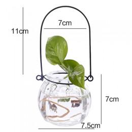 Rośliny hydroponiczne wazon prosty kreatywny szklany wazon Home dekoracyjna stołowa przezroczysty wazon na kwiaty