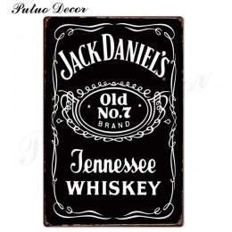 Whisky Vintage metalowy znak plakietka z napisem Metal Vintage retro ściana wystrój dla Bar Pub Club Man jaskinia metalowe tabli