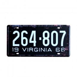 USA nowy jork 125 metalowe plakietki emaliowane numer samochodu licencji retro wystrój domu dla Bar Cafe garaż malowanie ścian p