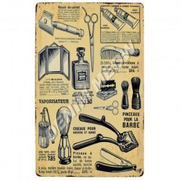 Vintage do salonu fryzjerskiego metalowy plakat Cafe Bar Pub znak blaszany tablica Retro strzyżenie i golenie broda żelaza płyty