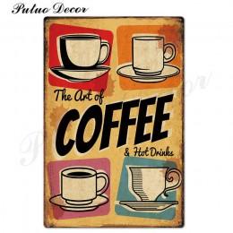 Kawa metalowy znak vintage znak puszka tablica metalowa klasyczna ściana wystrój kuchenna kawa Bar Cafe Retro Metal plakaty meta