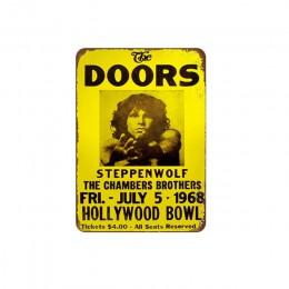 Retro Film klip znaki blaszane płyta muzyka Film plakaty artystyczne Cafe Bar Vintage Metal malarstwo tablica dekoracyjna Home D