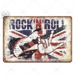 Muzyka metalowy plakat plakietka metalowa Vintage rockowe N Rool metalowy znak znak blaszany dekoracje ścienne dla Bar Pub Club