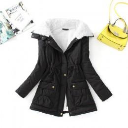 Fitaylor zimowy płaszcz bawełniany kobiety Slim śnieżna odzież wierzchnia średniej długa wypchana kurtka gruba bawełna wyściełan