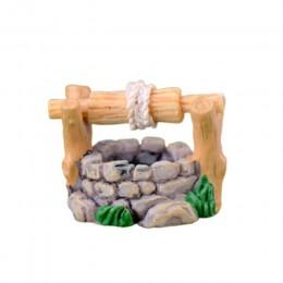 Retro miniaturowy bajkowy ogród trawnik Ornament Pot Craft górski domek dla lalek dekoracja do akwarium basen mały mostek