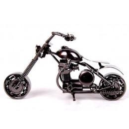 """VILEAD 14cm (5.5 """") model motocykla Retro Motor figurka ozdoby metalowe ręcznie żelaza motocykl Prop Vintage Home Decor zabawka"""