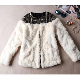 TEELYNN 2019 zimowe ciepłe damskie sztuczne futro ręcznie robione frezowanie nit z długim rękawem boho płaszcz damskie futro kur