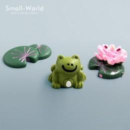 Kawaii figurka słonia krowa świnia żaba kaczka jeż żółw pies kot wystrój mini bajki ogród statua zwierząt miniaturowe rzemiosło