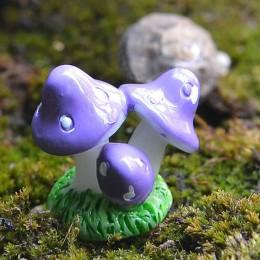 Śliczne czerwone Mini grzyby rzemiosło żywiczne bajki miniatury ogrodowe diy domek dla lalek ozdoba ogrodowa dekoracje figurki d