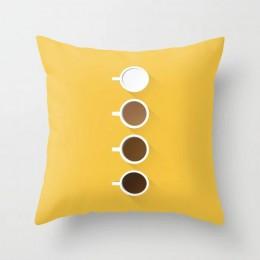Żółta poduszka okładka Plaid Flower nadruk liter Sofa poszewki na poduszki sypialnia Home wystrój samochodu biura dekoracyjne ak