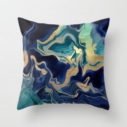 Marmurowy wzór skandynawskie geometryczne poszewka dekoracyjna brzoskwinia aksamitna mikrofibra poduszka obicia na poduszki do s
