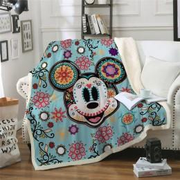 Disney mickey koc pluszowy rzut na łóżka Sofa Noble pościel Sherpa koce dla dzieci prezent