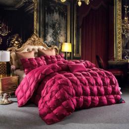 Svetanya 3d luksusowe puch gęsi kołdra pikowana król królowa pełny wymiar pocieszyciel zima gruby koc