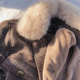Mishow 2019 kobiety nowa zimowa odzież zagęścić wełniana kurtka kobiet koreańskiej wersji krótki luźna w kratę wełniany płaszcz