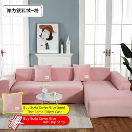 Nowe grube aksamitna sofa okładka elastyczność antypoślizgowe kanapa narzuty uniwersalny elastan etui na elastyczny pokrowiec na
