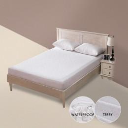 Terry materac wodoodporny pokrowiec anty-roztocza oddychający hipoalergiczny łóżko podkładka ochronna ochraniacz na materac łóżk