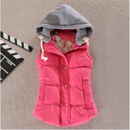 Plus rozmiar 6XL kobiet kamizelka płaszcz zimowy panie kamizelka Colete Feminino dorywczo kieszeń kamizelka z kapturem kobiet be