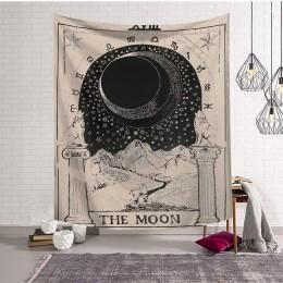 Mandala gobelin ściany wiszące czary Hippie plaża rzut dywan dywan słońce księżyc gobeliny czeski Home Art psychodeliczny wystró