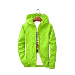 Cienki płaszcz damski, wiosenny jesień duży rozmiar 7XL kombinezon letni krem przeciwsłoneczny kurtka wiatrówka odzież chroniąca