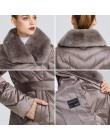 MIEGOFCE 2019 nowa kolekcja damska kurtka z kołnierzem królika kobiet płaszcz zimowy niezwykłe kolory, że wiatroszczelna kurtka