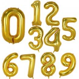 30 40 Cal duże foliowe balony urodzinowe powietrze helem balon w kształcie cyfry dekoracja na przyjęcie z okazji urodzin złoto s