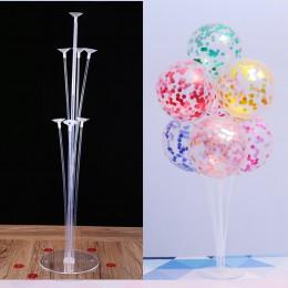 7 tubek balony stojak balon uchwyt kolumna konfetti balony na brzuszkowe dzieci urodziny materiały do dekoracji ślubnych