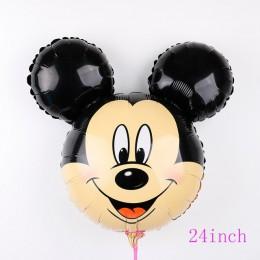 112cm Giant Mickey Minnie Mouse balon kreskówka folia balon na przyjęcie urodzinowe dla dzieci dekoracje na imprezę urodzinową d