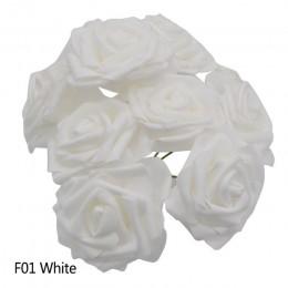 25 głów 8CM nowa kolorowa sztuczna pianka pe róża kwiaty bukiet panny młodej dekoracja ślubna do domu Scrapbooking materiały dla