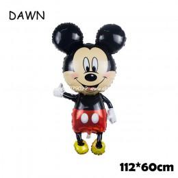 112cm Giant Mickey Minnie Mouse balon kreskówka folia balon na przyjęcie urodzinowe dla dzieci dekoracje na imprezę urodzinową k
