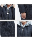 Nowy 2018 kurtka zimowa kobiety moda projekt złoty z kapturem zimowa kurtka kobiet ciepły długi FR-5076