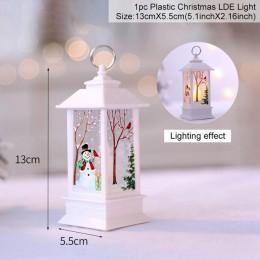 QIFU ozdoby choinkowe naklejki okienne dekoracje świąteczne dla domu wystrój bożonarodzeniowy wesołych świąt 2019 szczęśliwego n