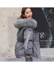 FTLZZ kobiety zima krótka kurtka Mujer parki z kapturem płaszcz zimowy kobiety luźna parka futro kołnierz bawełniane watowane ku