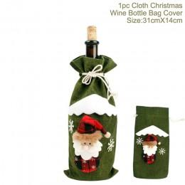 QIFU święty mikołaj pokrowiec na termofor dekoracje na boże narodzenie dla domu 2019 ozdoba świąteczna Navidad Natal prezent now