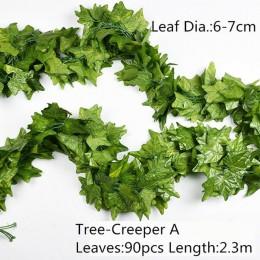 10 styl 1pc sztuczna dekoracja żywe winorośli Rattan liść pochwy trawy rośliny liście winogron dla domu dekoracje na przyjęcie o