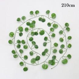 200cm sztuczne rośliny pnącza zielony liść stroik z bluszczu dla domu ślub Decora hurtownia diy wiszące Garland sztuczne kwiaty