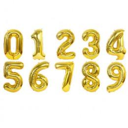 32/40 calowy numer balony z folii aluminiowej różowe złoto srebro cyfra rysunek balon dziecko dorosłych urodziny wesele wystrój