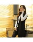 Sungtin klasyczne damskie długie marynarki kamizelka eleganckie biuro płaszcz damski kobiece kamizelki przyczynowe garnitury bez